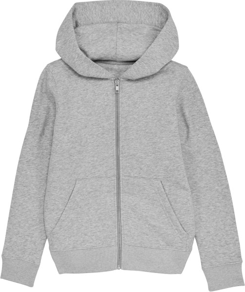 Kinder Kapuzenjacke aus Bio-Baumwolle - heather grey