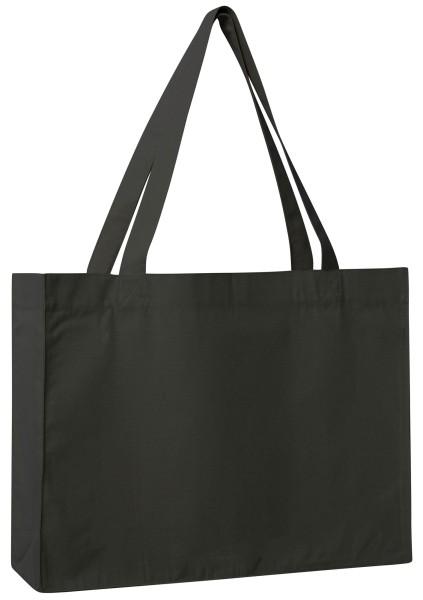 Shopping Bag aus recycelter Baumwolle - schwarz