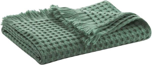 Waffelpiqué-Handtuch aus Bio-Baumwolle 100x50 cm - myrtle
