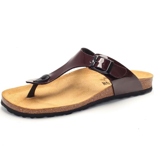 Zehensandale mit Fußbett - charol sintetico - burdeos