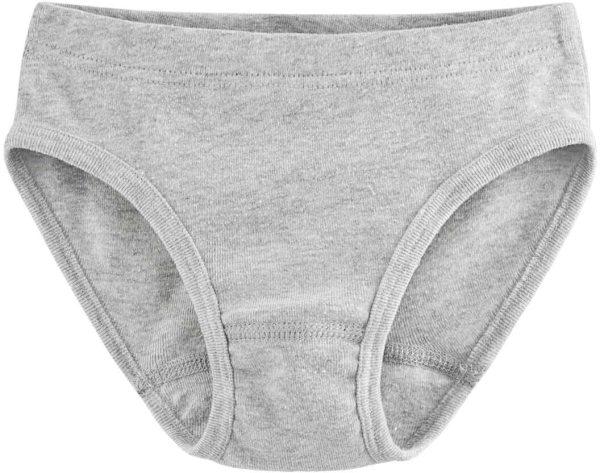 Mädchen Slip aus Bio-Baumwolle - grey melange