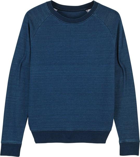 Sweatshirt aus Bio-Baumwolle - mid washed indigo