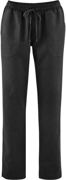 Hose aus Leinen und Bio-Baumwolle - black