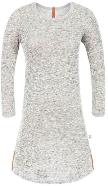 Strick-Kleid aus Bio-Baumwolle - hellgrau-meliert