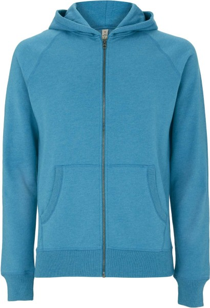 Recycled Unisex Zip-Hoodie Baumwolle und Polyester melange blue