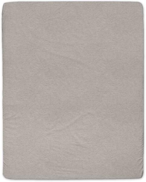 Spannbetttuch aus Bio-Baumwolle 160x200 cm - brown melange