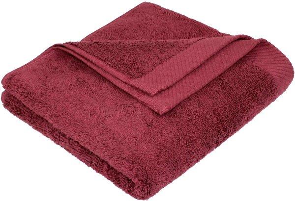 Flauschiges Handtuch aus Bio-Baumwolle - 50x100 bordeaux