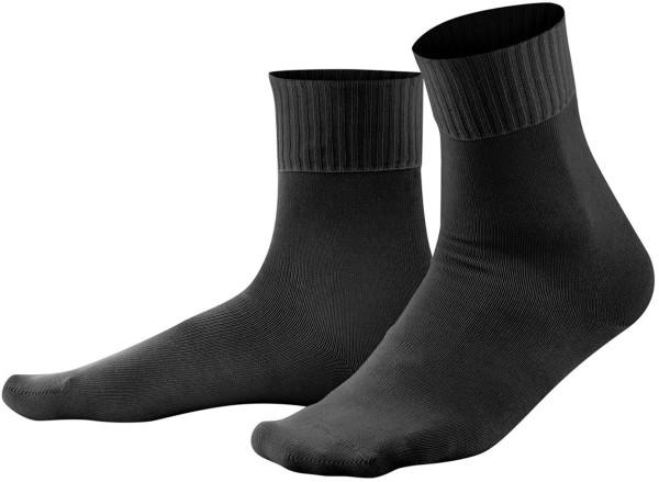 Komfort Socken schwarz Biobaumwolle Living Crafts