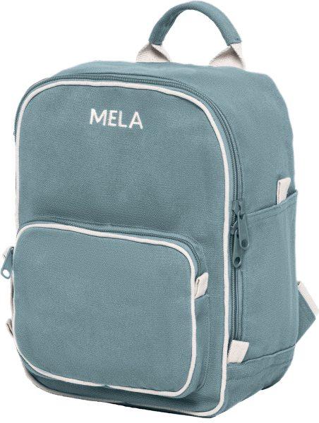 Fairtrade Rucksack MELA II Mini aus Bio-Baumwolle - petrol