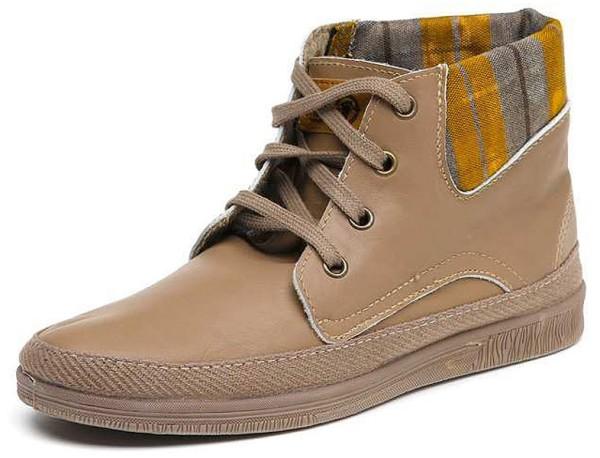 Bota Cuello Leather - Schnürschuhe aus Leder - crudo - Bild 1