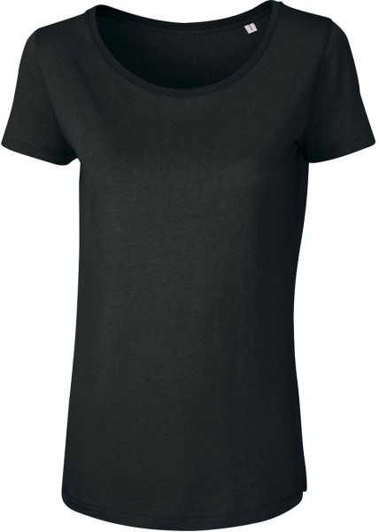 T-Shirt aus Modalfasern - schwarz