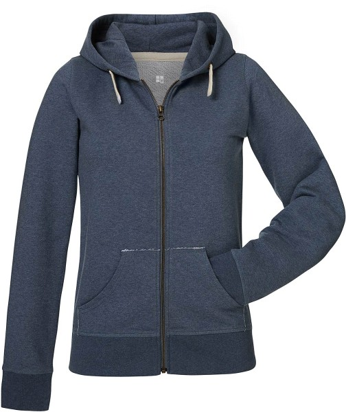 Kapuzenjacke Bio-Baumwolle - dark heather blue