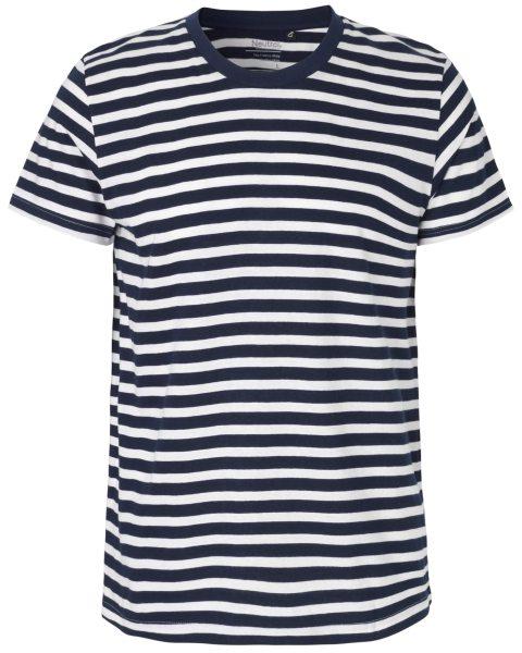 Herren T-Shirt Bio-Baumwolle gestreift Neutral 61001