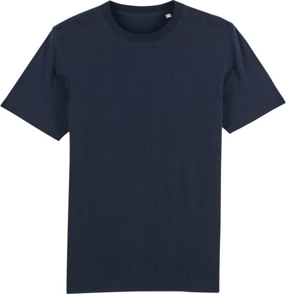 T-Shirt aus schwerem Stoff aus Bio-Baumwolle - french navy