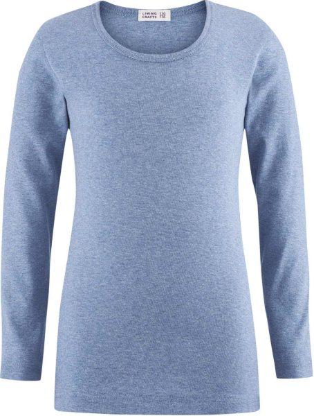 Kinder Langarmshirt aus Bio-Baumwolle - blue melange