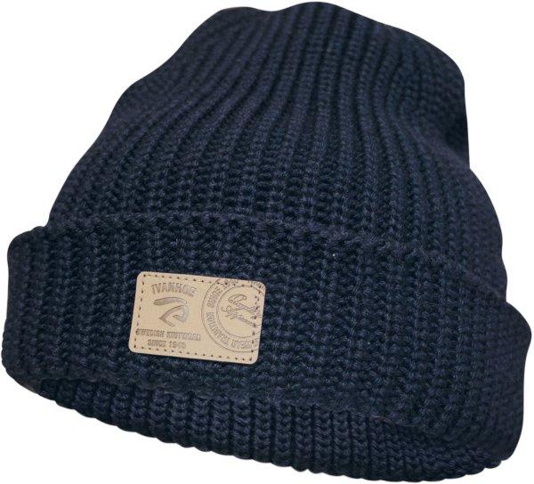 ECO Oak - Mütze mit Umschlag aus Wolle - navy