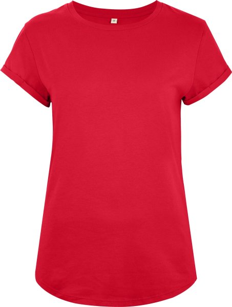 Organic Rolled Sleeve T-Shirt - red