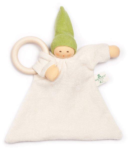 Ringnuckel Schmusepuppe/Tuch aus Bio-Baumwolle - grün - Bild 1
