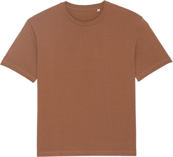 Oversized T-Shirt aus Bio-Baumwolle - caramel