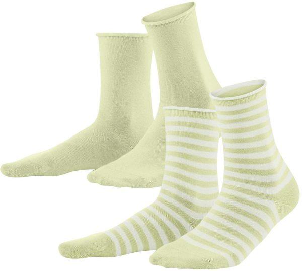 Damen Socken aus Bio-Baumwolle - 2er-Pack - milky green