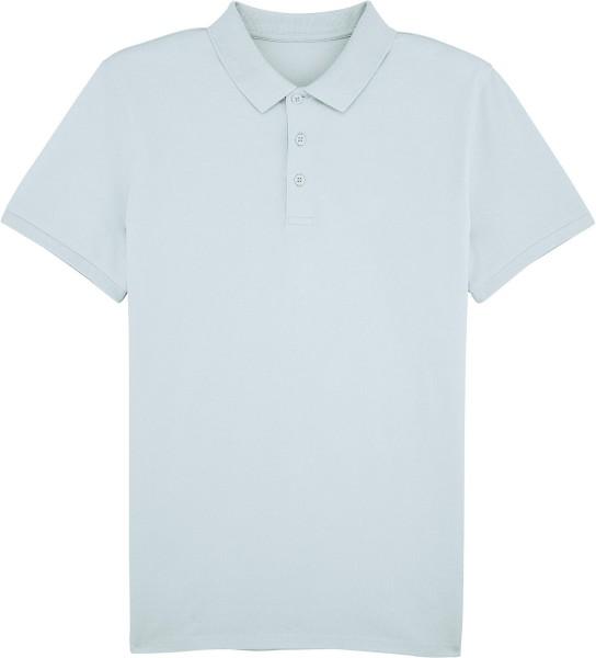 Klassisches Poloshirt aus Bio-Baumwolle - baby blue