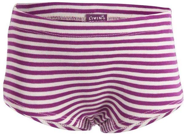 Kinder Mädchen Panty aus Biobaumwolle - purple/natur striped - Bild 1