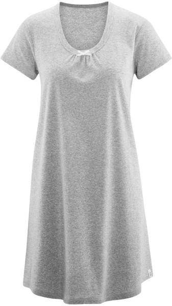 Schlafkleid aus Bio-Baumwolle - grau meliert - Bild 1