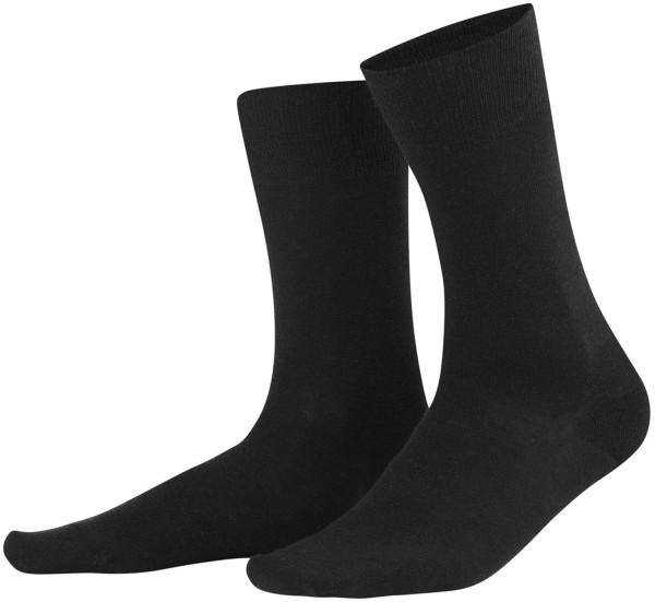 Socken Bio-Wolle Bio-Baumwolle schwarz Living Crafts
