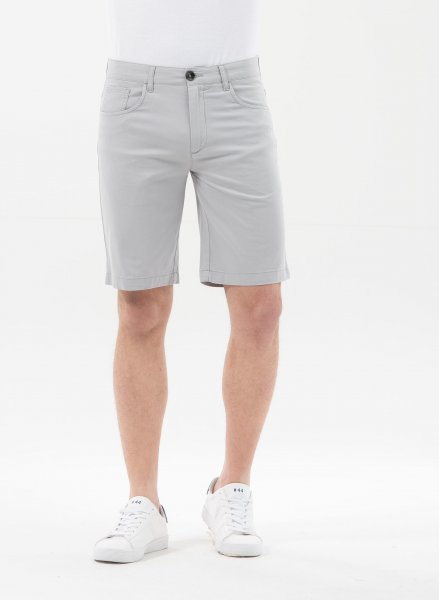Tight Fit Shorts aus Bio-Baumwolle - grey