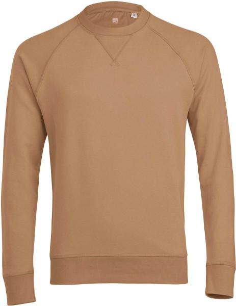 Sweatshirt aus Bio-Baumwolle - camel