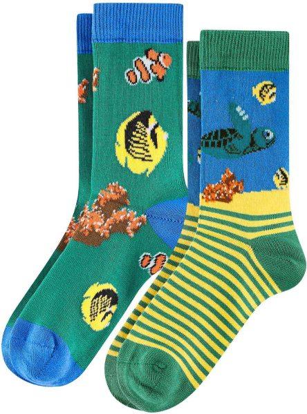 Kinder Socken aus Bio-Baumwolle - 2er-Pack - turtle