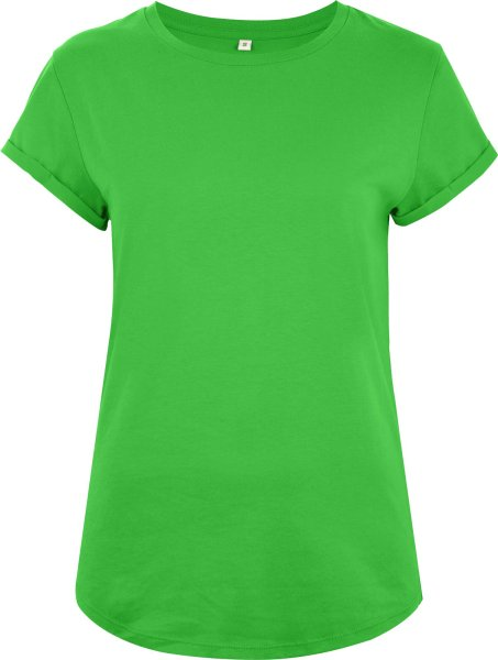 Organic Rolled Sleeve T-Shirt - light green