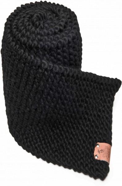 Strickschal aus Schurwolle - zwart