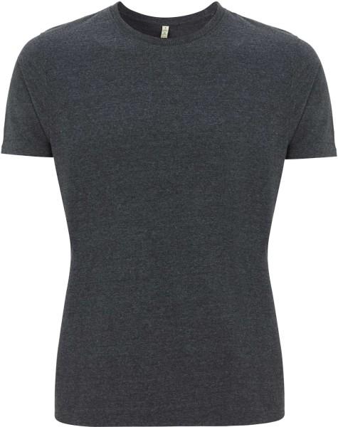 Recycled T-Shirt aus Baumwolle und Polyester - melange black