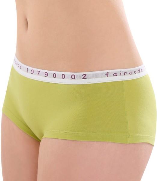 Hot-Pants aus Fairtrade Biobaumwolle - kiwi - Bild 1