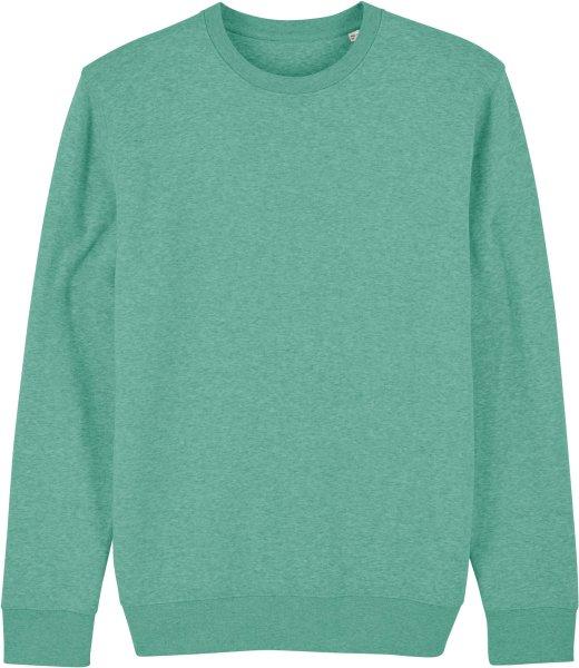 Unisex Sweatshirt aus Bio-Baumwolle - mid heather green