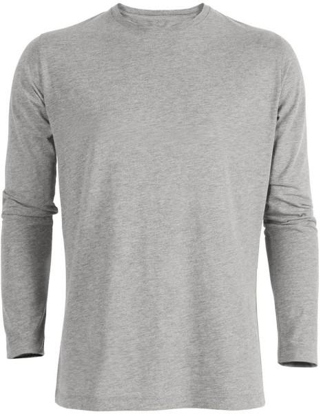 Langarmshirt aus Bio-Baumwolle - grau meliert