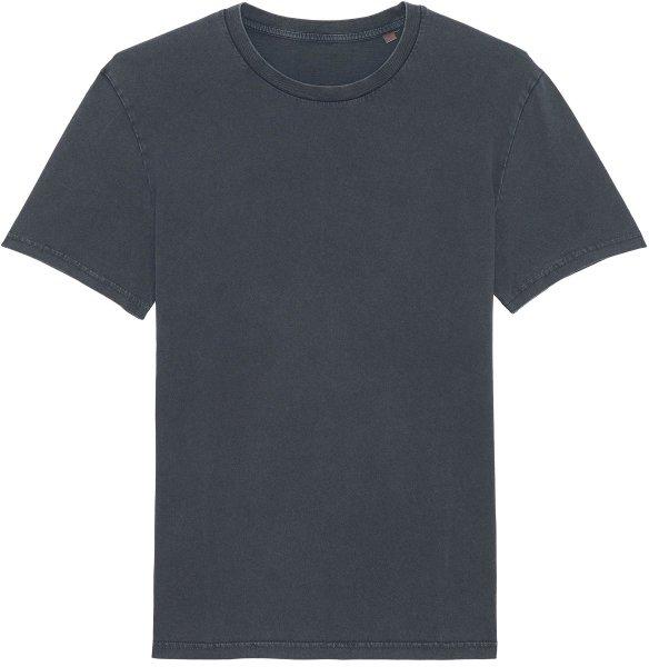 Vintage T-Shirt aus Bio-Baumwolle - g. dyed aged india ink grey