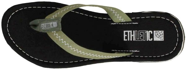 Fair Flips - Fairtrade-Flipflops - Jet Black/Camping Green - Bild 1