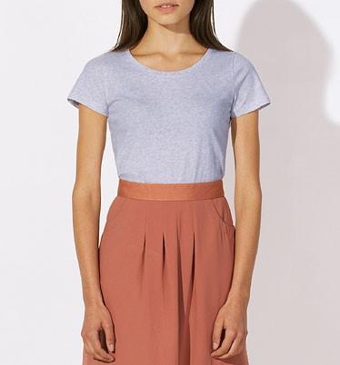 Loves - Jerseyshirt aus Bio-Baumwolle - light heather lilac - Bild 1