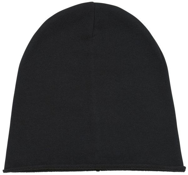 Terry Beanie schwarz Mütze Bio-Baumwolle