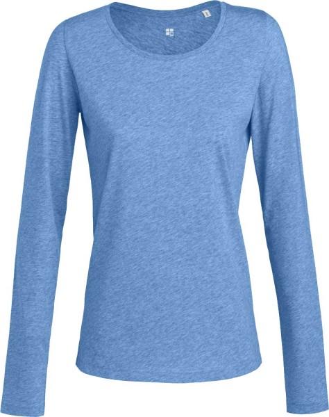 Frauen Langarmshirt mit U-Ausschnitt, umweltfreundlich produziert