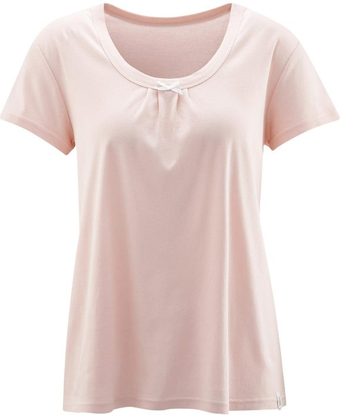 Schlaf-Shirt aus Feinripp Bio-Baumwolle - lotus - Bild 1