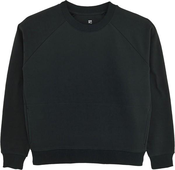 Kurzes Raglan-Sweatshirt aus Bio-Baumwolle - black