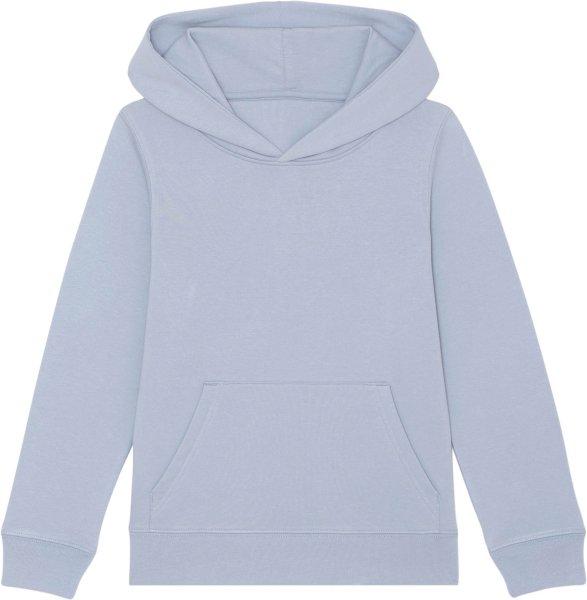 Kinder Hoodie aus Bio-Baumwolle - serene blue