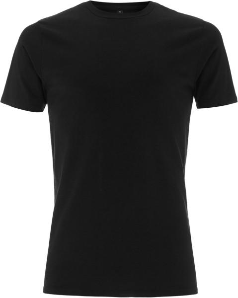 Herren Stretch T-Shirt Bio-Baumwolle schwarz
