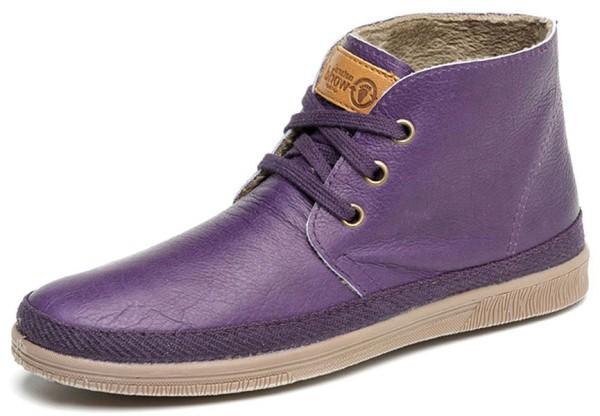 Safari Leather - Schnürschuhe aus Leder - morado - Bild 1