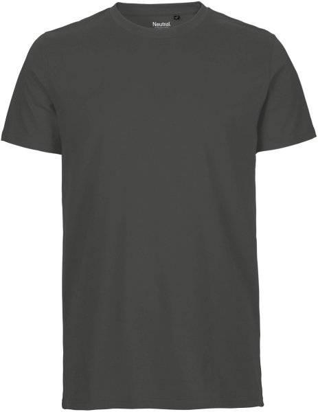 Fitted T-Shirt aus Fairtrade Bio-Baumwolle - charcoal