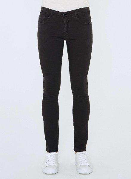 Tight Fit 5-Pocket-Hose aus Bio-Baumwolle - black