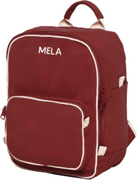 Fairtrade Rucksack MELA II Mini aus Bio-Baumwolle - burgunderrot